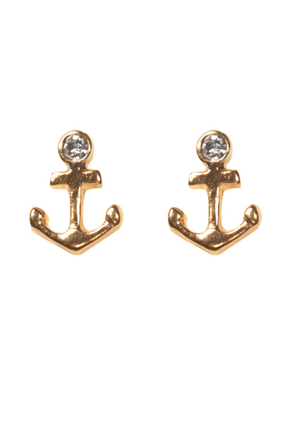 Anchor Stud Earring