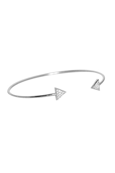 Triangle Crystal Bangle