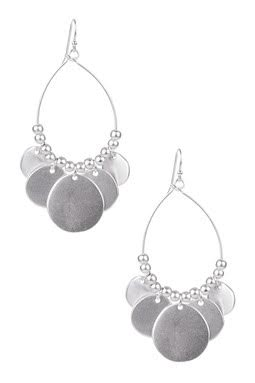 Disc Boho Drop Earring