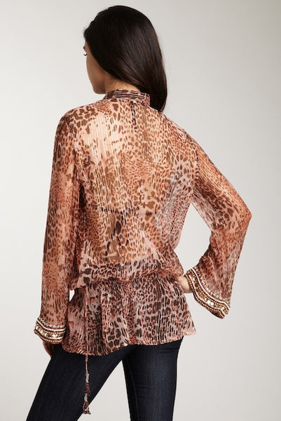 Pink leopard Tunic