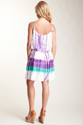Woodstock Flapper Dress-(Short) Purple