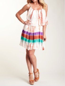 Woodstock Flapper Dress - Orange