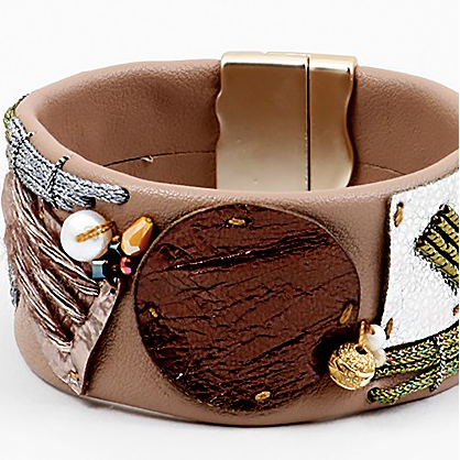 Patchwork Leather Cuff