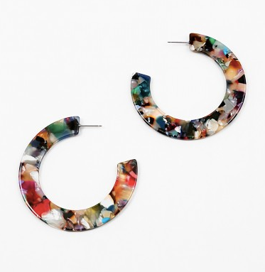 Flat Round Hope Earrings
