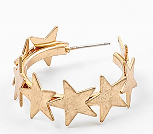 Star Struck Hoop Earring