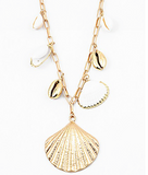 Puka Shells Charm Necklace