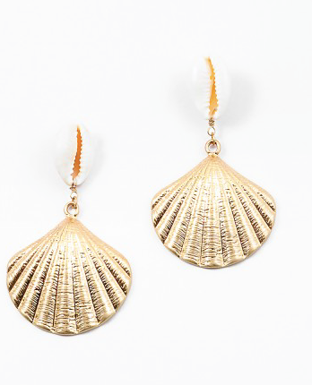 Puka Shell Chandelier Earring