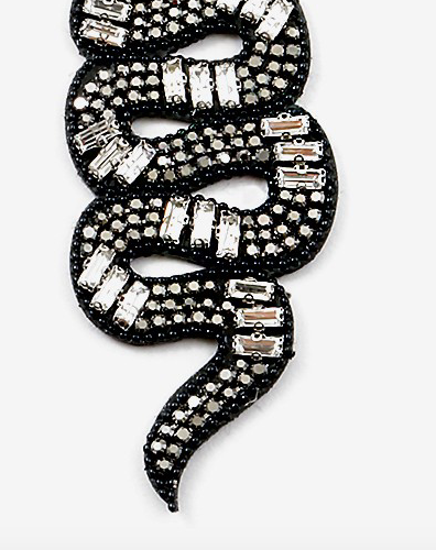 Sequin Snake Earring