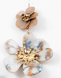 Marbelized Flower  Earring