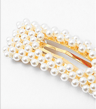 Faux Rectangle Pearl Clip