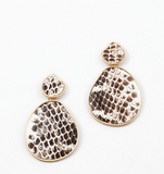 Leather Python Drop Earring