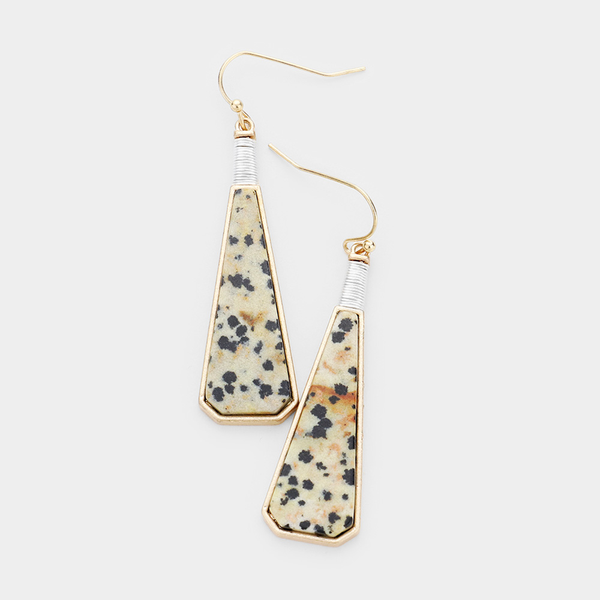 Spotted Stone Dangling Earring