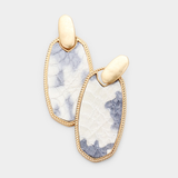 Python Print Oval Drop Earring