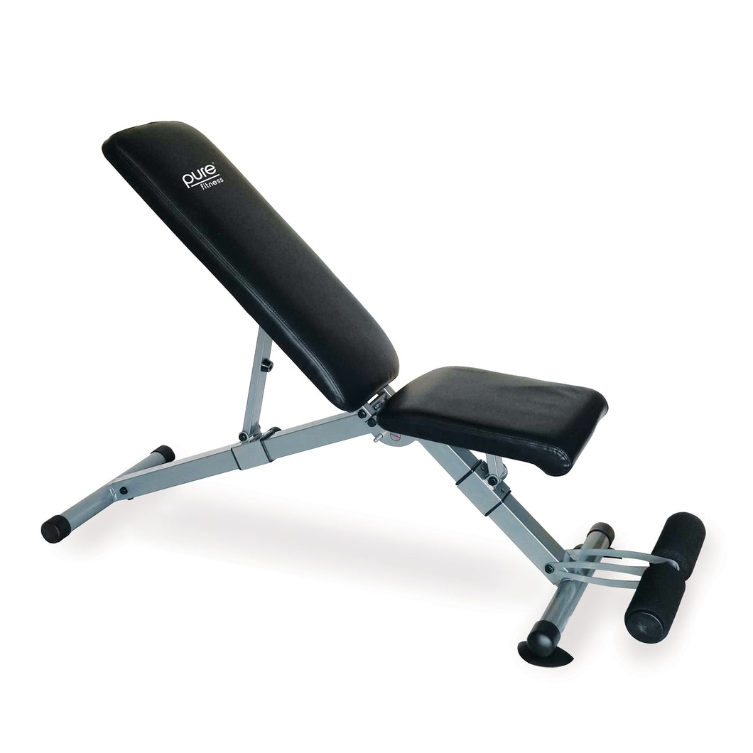 Pure Fitness Pro Adjustable FID Weight Bench, 330lb Weight Capacity