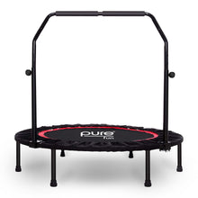 Load image into Gallery viewer, Pure Fun 40-inch Exercise Trampoline with Adjustable Handrail, Black 9003MTH