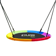 Load image into Gallery viewer, Pure Fun 40-inch Rainbow Flying Saucer Swing