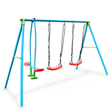 Load image into Gallery viewer, Pure Fun 4-Station Play-Zone Metal Swing Set 9335MSS