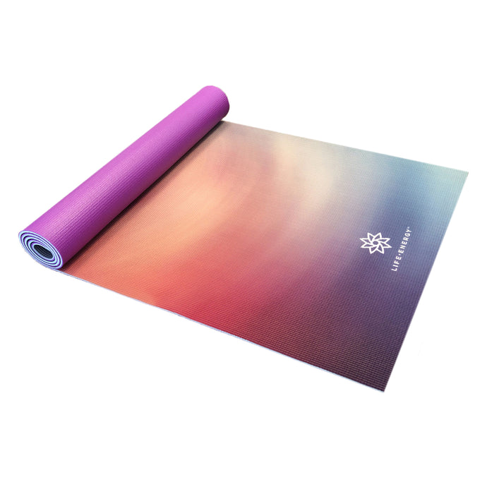 Life Energy Karuna 6mm Reversible Double Sided Yoga Mat, 6mm - Pure Fun