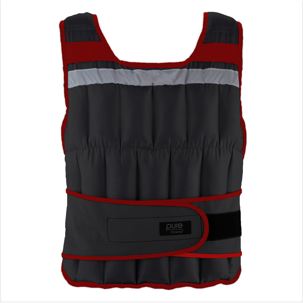 Pure Fitness Adjustable Weighted Vest, 40-pound
