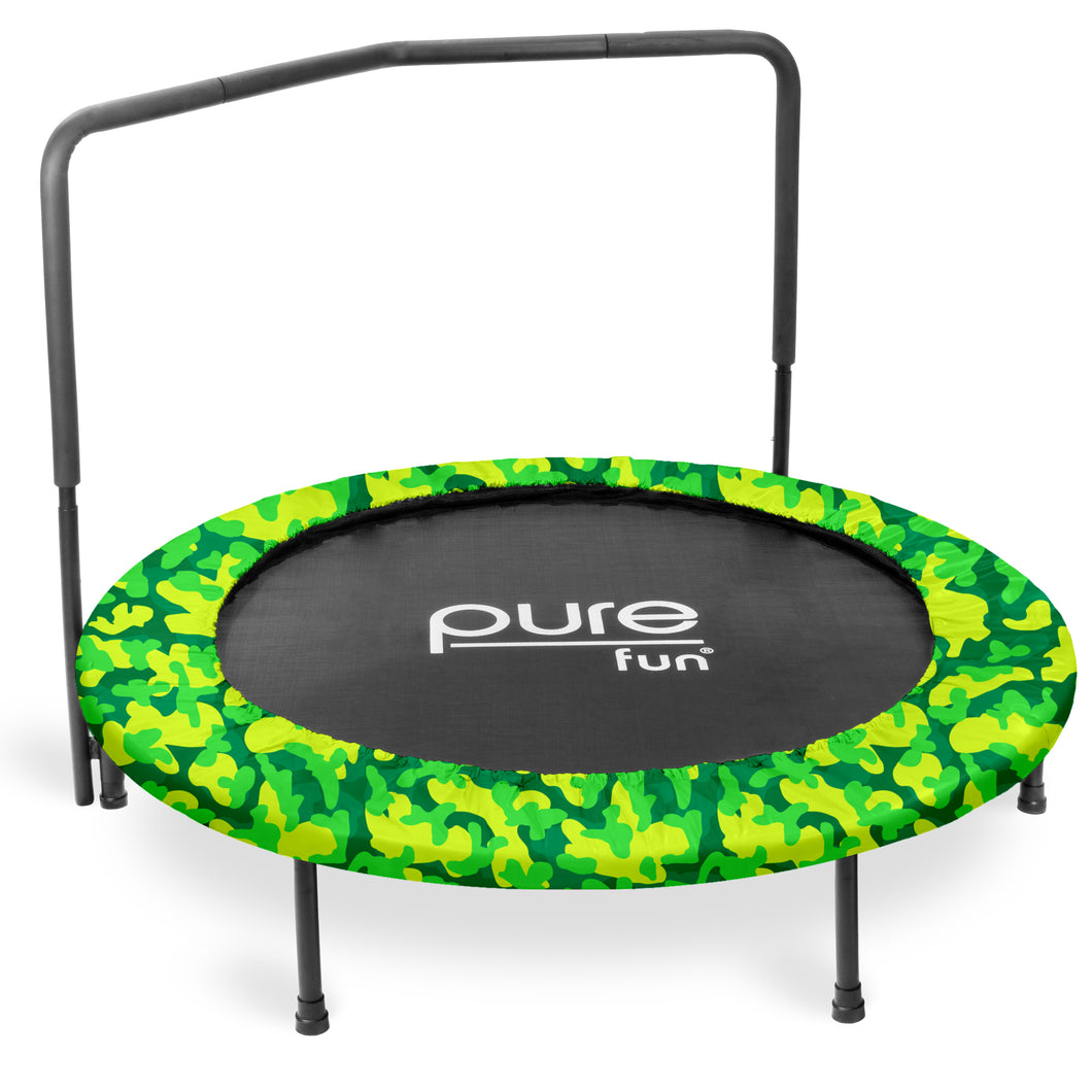 Pure Fun 48-inch Super Jumper Kids Trampoline with Handrail - Camo - Pure Fun