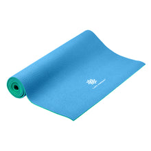 Load image into Gallery viewer, Reversible Yoga Mat, PVC, 6mm, Emerald and Blue - Pure Fun