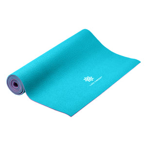 Life Energy 6mm Reversible Non-Slip Yoga Mat - Purple, Teal - Pure Fun
