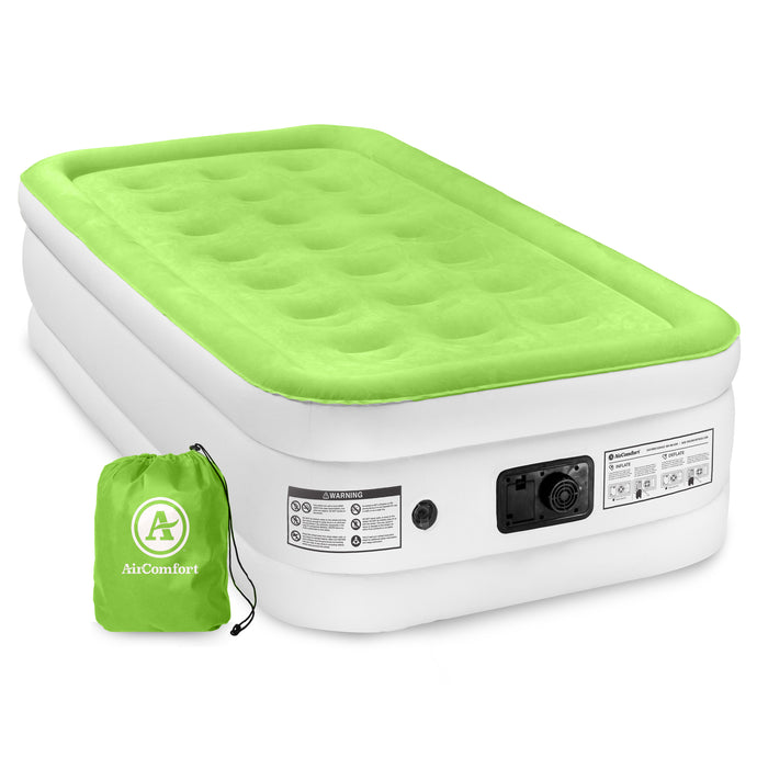 Air Comfort Dream Easy Raised Air Mattress with Built-in Pump - Twin - Pure Fun
