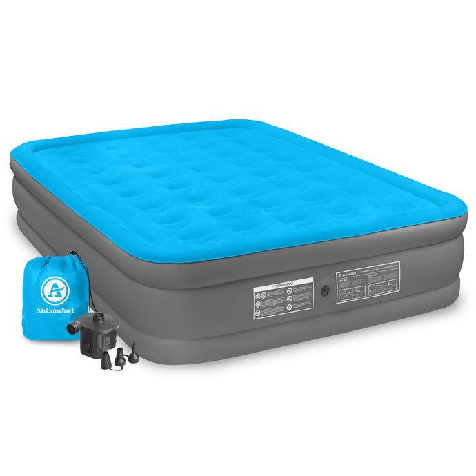 Air Comfort Camp Mate Queen Size Raised Air Mattress - Pure Fun