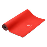 Reversible Yoga Mat, PVC, 6mm, Ruby and Charcoal - Pure Fun