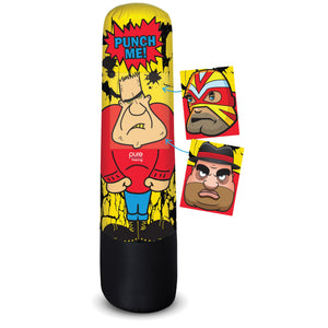 Pure Boxing Bully Bag 56-Inch Inflatable Punching Bag with Interchangeable Faces - Pure Fun