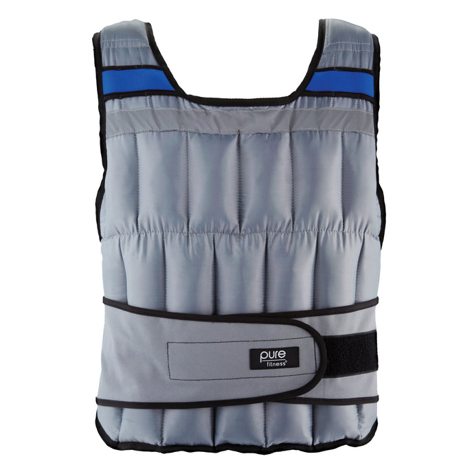Pure Fitness Adjustable Weighted Vest, 40-pound - Pure Fun