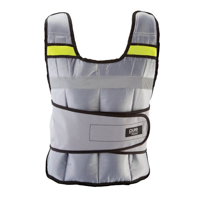 Pure Fitness Adjustable Weighted Vest, 20-pound - Pure Fun