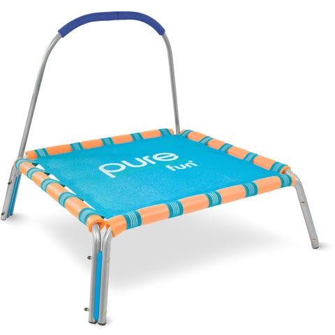 Kids Trampoline with Handrail, Spring Free, 38-inch - Pure Fun
