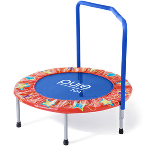 Pure Fun 36-inch Kids Trampoline with Handrail, Spring Free - Pure Fun
