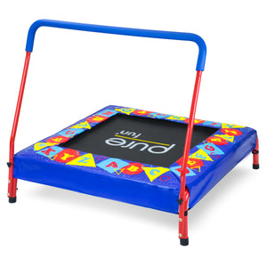 Pure Fun Preschool Jumper Kids Trampoline with Handrail - Pure Fun