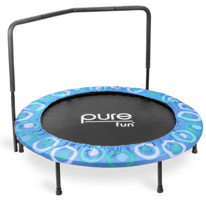 Pure Fun 48-inch Super Jumper Kids Trampoline with Handrail - Blue - Pure Fun