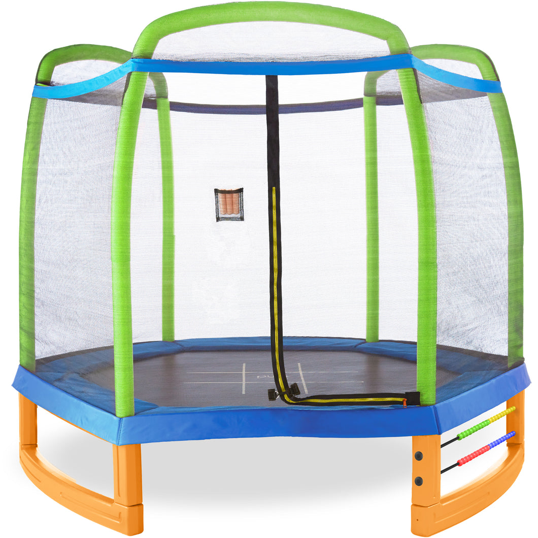 Pure Fun Jump and Play 7-Foot Trampoline Set, Ages 3 to 9 - Pure Fun