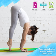 Load image into Gallery viewer, Life Energy 6mm Reversible Non-Slip Yoga Mat - Bodhi