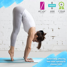 Load image into Gallery viewer, Life Energy 6mm Reversible Non-Slip Yoga Mat - Mantra