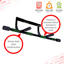 Load image into Gallery viewer, Pure Fitness Adjustable Multi-Purpose Doorway Pull-Up Bar - Pure Fun