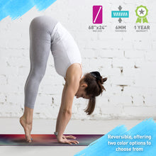 Load image into Gallery viewer, Life Energy Karuna 6mm Reversible Double Sided Yoga Mat, 6mm - Pure Fun