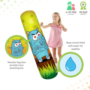 Pure Boxing Monster Mash Inflatable Punching Bag for Kids - Pure Fun