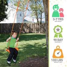 Load image into Gallery viewer, Pure Fun Adjustable Toddler Swing Seat, ages 3 to 7