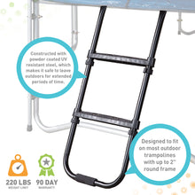 Load image into Gallery viewer, Pure Fun Wide 2-Step Universal Trampoline Ladder - Pure Fun