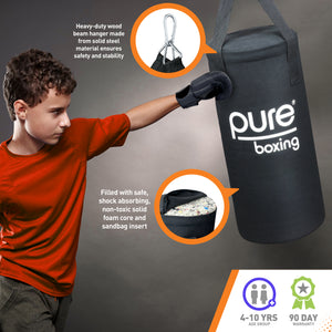 Pure Boxing Kids 25lb Heavy Bag Set with Bag, Gloves and Jump Rope, Ages 4 to 10 - Pure Fun