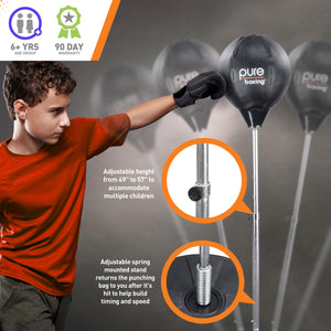 Pure Boxing Kids Pro Free Standing Punching Bag, Ages 6+ - Pure Fun