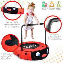 Load image into Gallery viewer, Pure Fun 36-inch Ladybug Plush Jumper Kids Trampoline with Handrail - Pure Fun