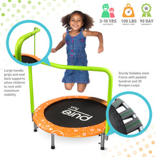 Load image into Gallery viewer, Pure Fun Foldable Kids Trampoline with Handrail, Spring Free, 36-inch - Pure Fun