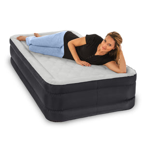 Air Comfort Deep Sleep Puncture Resistant Raised Air Mattress with Internal Pump - Twin - Pure Fun