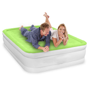 Air Comfort Dream Easy Raised Air Mattress with Built-in Pump -  Queen - Pure Fun